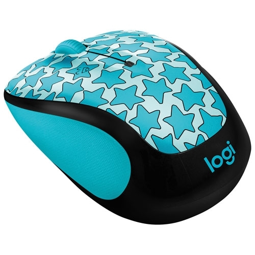 Logitech - M325C Doodle Collection Wireless Mouse TWINKLE TEAL - 910-005035